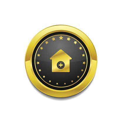 Health Kit Golden Vector Icon Button