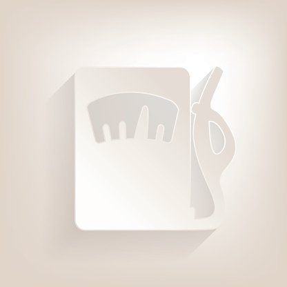 Flat gas column Icon with shadow