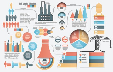 Industry concept info graphic design,clean vector