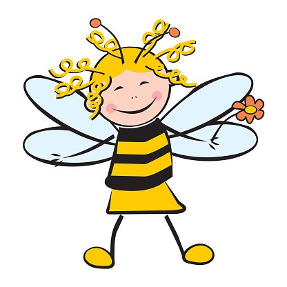 Girl as bee
