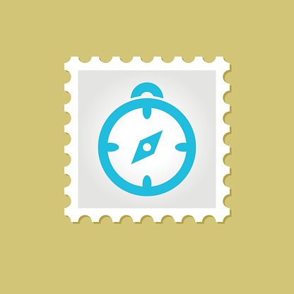Compass vector stamp