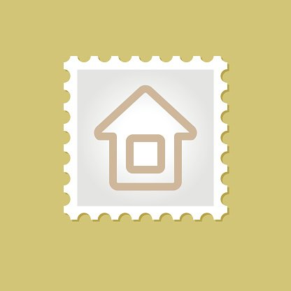 Home vector stamp