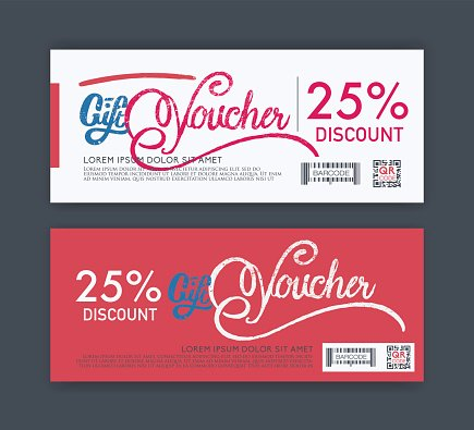 vector gift voucher template..