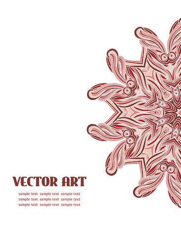 Abstract vector lace design.