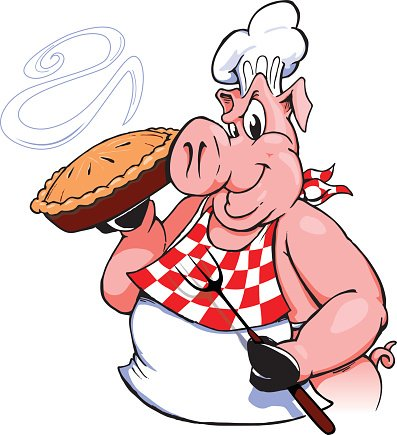 BBQ Pig with Pie