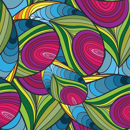 Vector Abstract Color Seamless Pattern