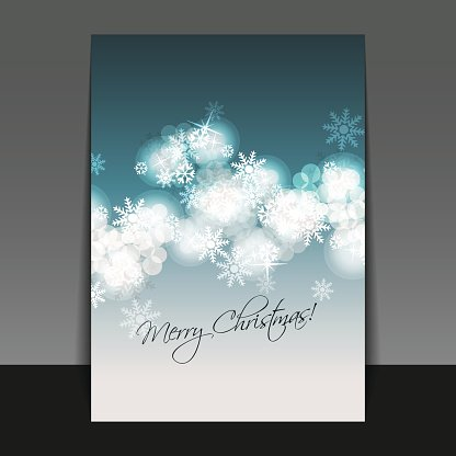 Christmas Card, Flyer or Cover Design Template