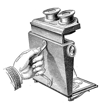 Antique illustration of stereoscope