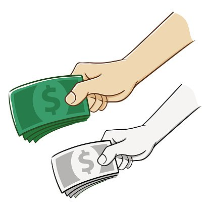 Hand Holding A Bunch of Money