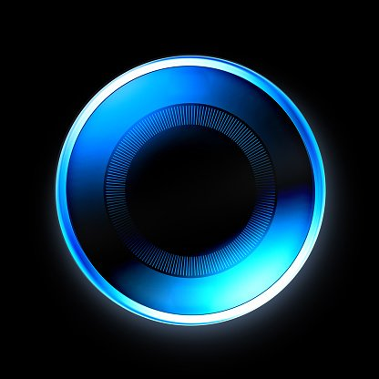 Blue power disc | button | wireless charge