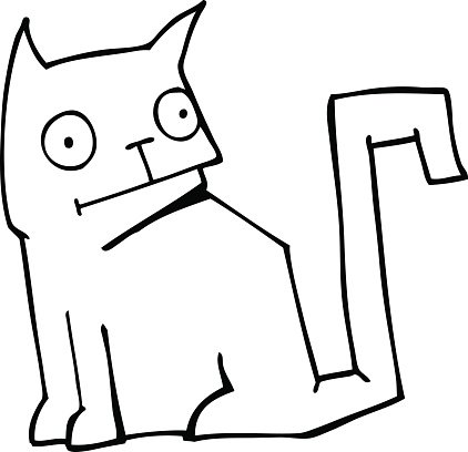 Cat drawing clipart down Library of cat drawing clip art free download png  files   Ozzy.abimillepattes.com