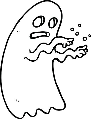 line drawing cartoon ghost