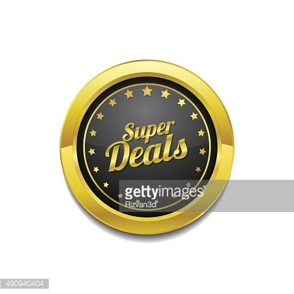 Super Deal Golden Vector Icon Button