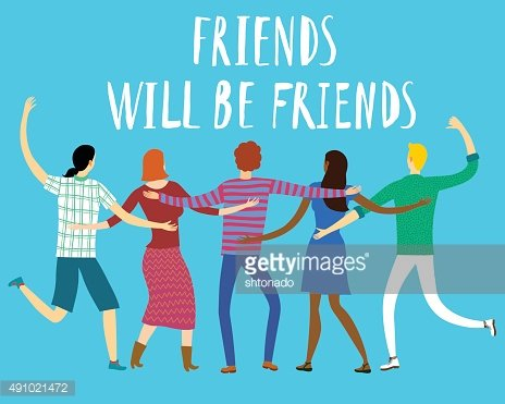 Happy friends enjoying Friendship Day