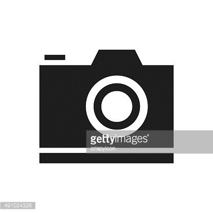 Digital Camera icon on a white background. - SingleSeries