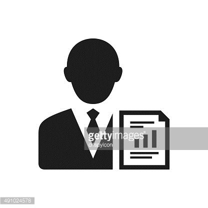 Businessman icon on a white background. - SingleSeries