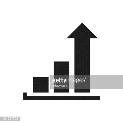Bar Graph icon on a white background. - SingleSeries