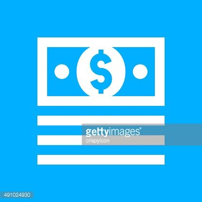 Money icon on a blue background. - SmoothSeries