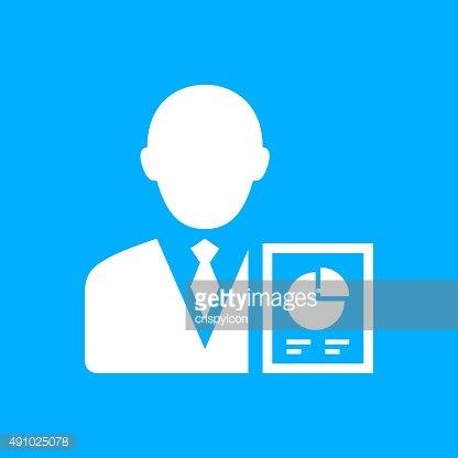 Businessman icon on a blue background. - SmoothSeries