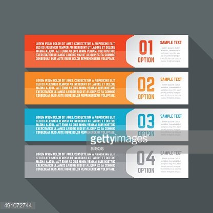 Infographics design template. Business concept with 4 options.