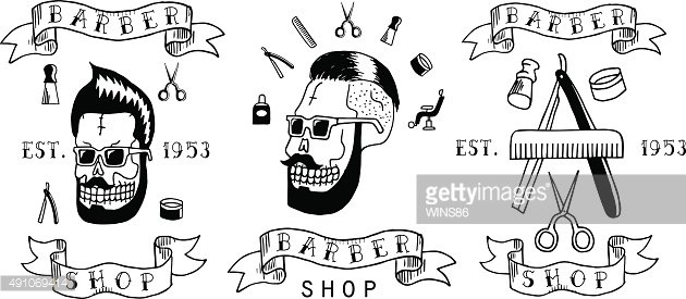 Barber shop. Trendy elements about hairdresser theme.