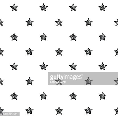 Stars scribble sketch pattern background