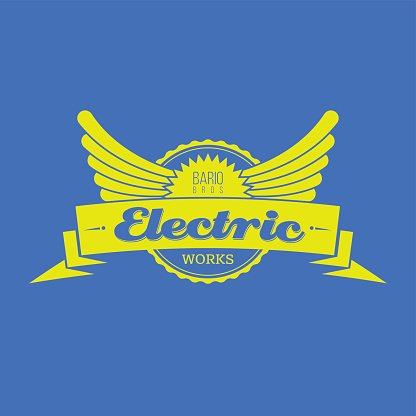 Electric works label