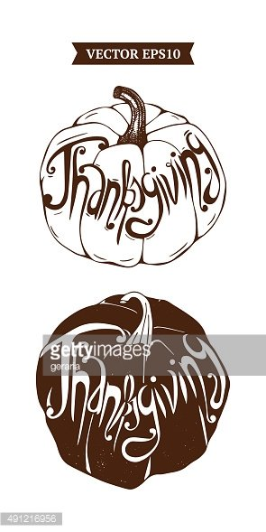 Chalkboard Poster Lettering for Thanksgiving day