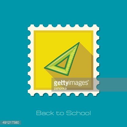 Triangle Ruler flat stamp