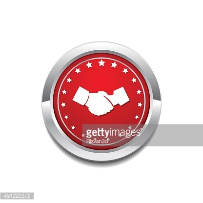 Deal Sign Red Vector Icon Button