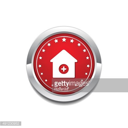 Health Kit Red Vector Icon Button