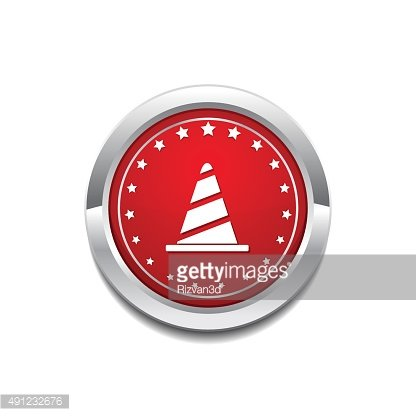 Under construction Red Vector Icon Button