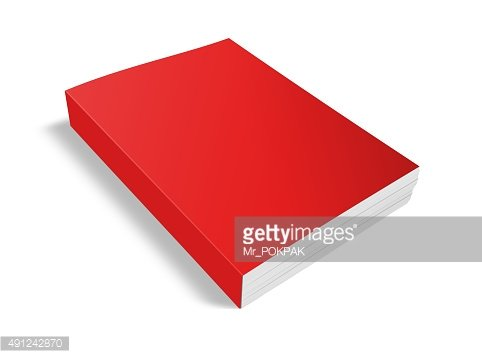 Blank white book isolated