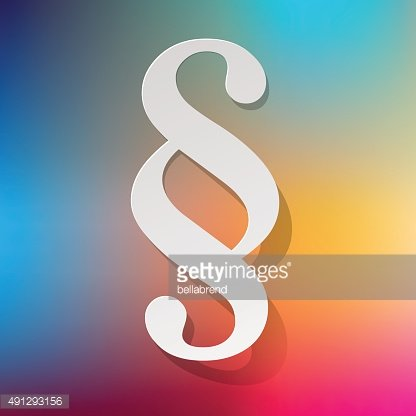 Paragraph white symbol paper on a rainbow background.