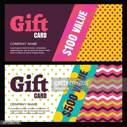 Vector creative gift card or voucher background template.