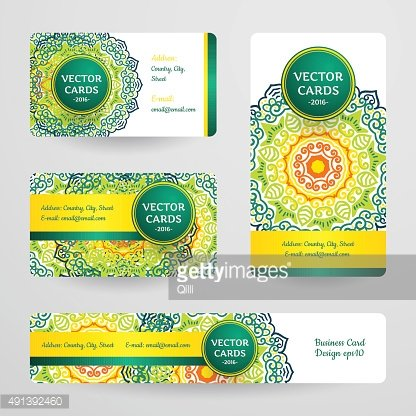 Business cards with mandala.