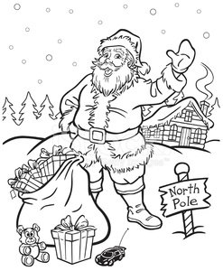 coloring book santa claus