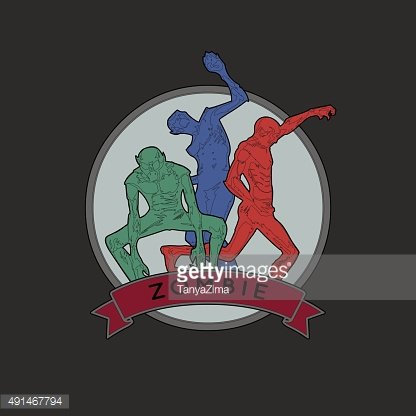 Zombie. Vector illustration of color zombie in different poses with ...