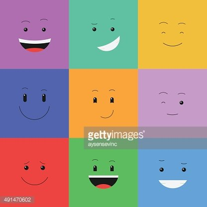Vector set face emotion - Illustration