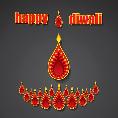 creative happy diwali greeting design
