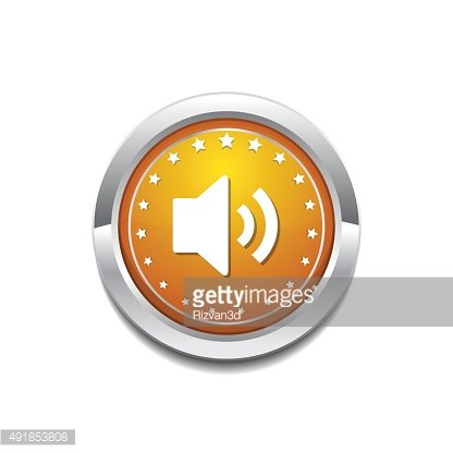 Speaker Yellow Vector Icon Button