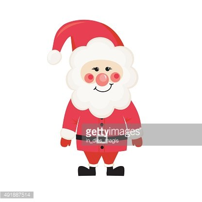 Cute Santa Claus isolated on white background