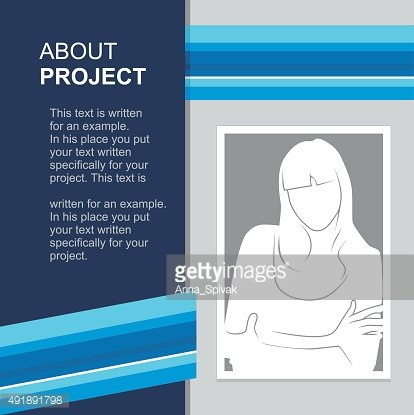 print template with photo insert. Vector illustration