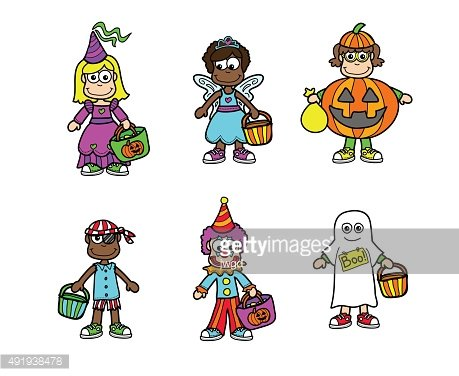 Halloween Kids in Cosutmes