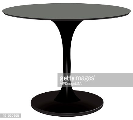 Round table black