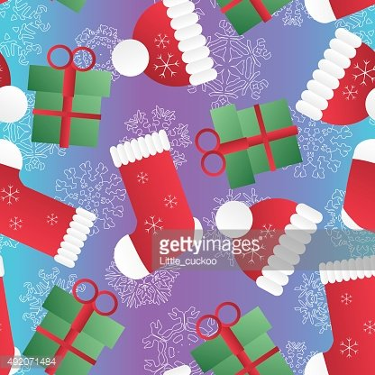 New year seamless pattern. Endless Christmas template