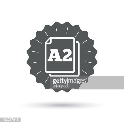 Paper size A2 standard icon. Document symbol