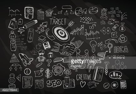 Modern Abstract background with hand drawn doodle sketches for Backgrounds