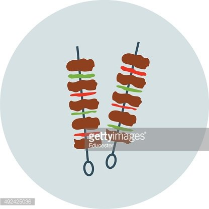 Barbecue Colored Vector Icon