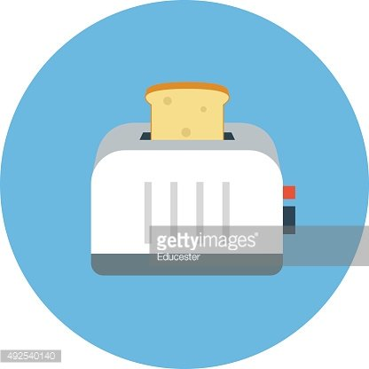 Toaster Colored Vector Icon